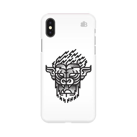Arty Lion Apple iPhone X Phone Cover