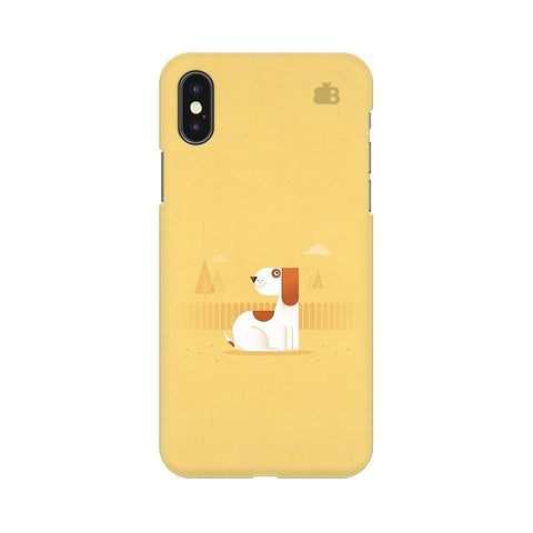 Calm Dog Apple iPhone X Phone Cover