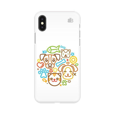 Cute Pets Apple iPhone X Phone Cover