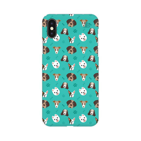 Doggie Pattern Apple iPhone X Phone Cover