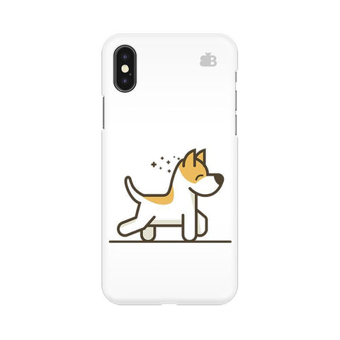 Happy Puppy Apple iPhone X Phone Cover