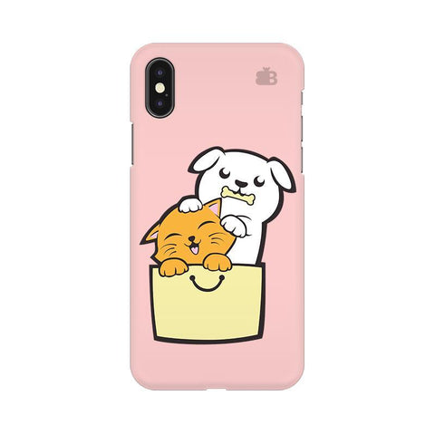 Kitty Puppy Buddies Apple iPhone X Phone Cover