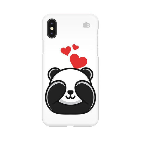 Panda In Love Apple iPhone X Phone Cover
