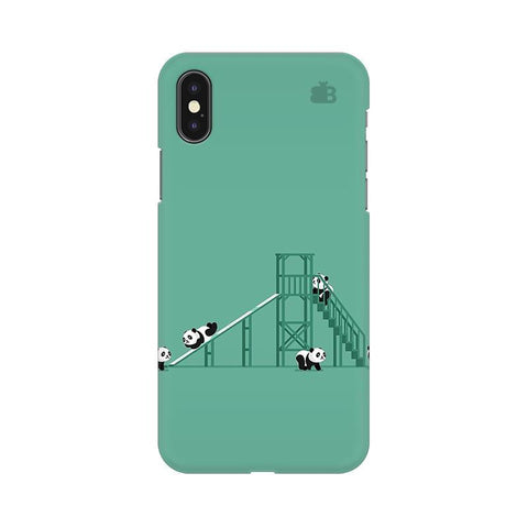 Pandas Playing Apple iPhone X Phone Cover