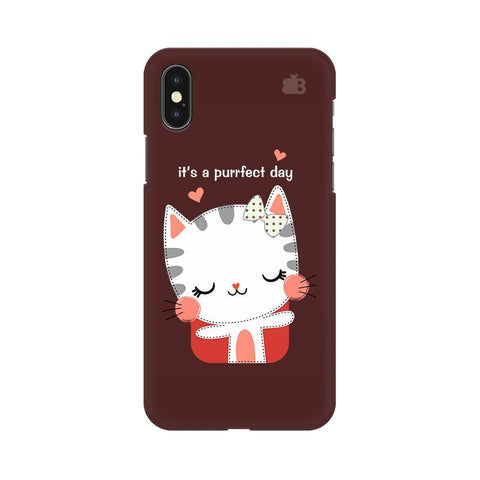 Purrfect Day Apple iPhone X Phone Cover