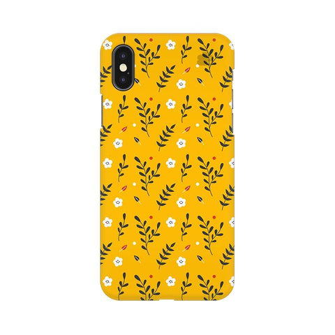 Summer Floral Pattern Apple iPhone X Phone Cover