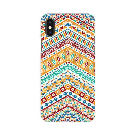 Wavy Ethnic Art Apple iPhone X Phone Cover