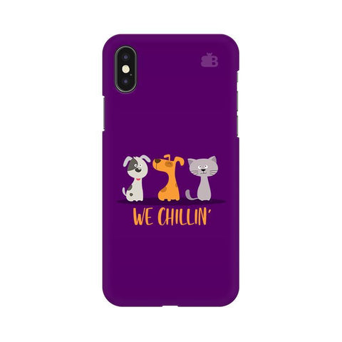 We Chillin Apple iPhone X Phone Cover