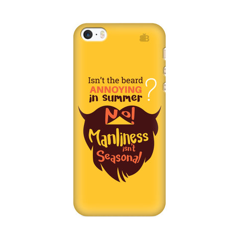 Beard Brown Apple iPhone SE2 Cover