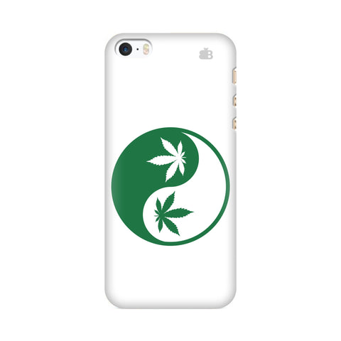 Weed Yin Yang Apple iPhone SE2 Cover