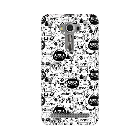 Cute Cats Pattern Asus Zenfone 2 Laser ZE550KL Phone Cover