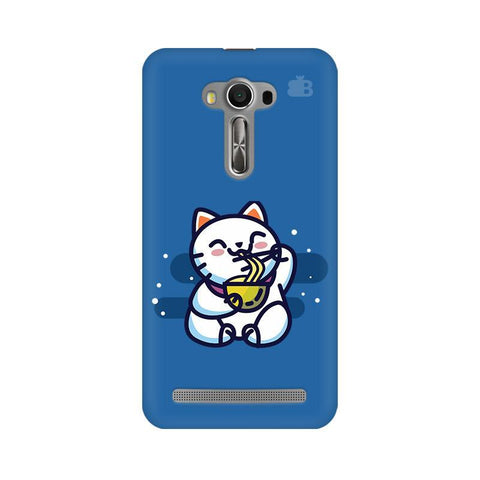KItty eating Noodles Asus Zenfone 2 Laser ZE550KL Phone Cover