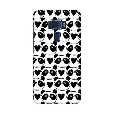 Happy Panda Pattern Asus Zenfone 3 Phone Cover