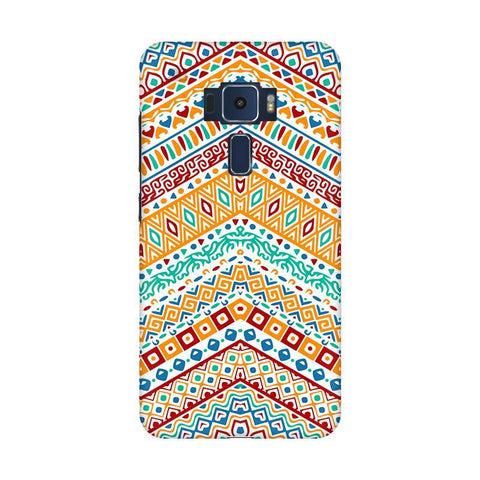 Wavy Ethnic Art Asus Zenfone 3 Phone Cover
