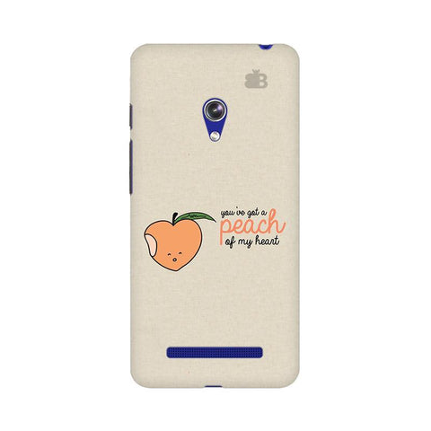 Peach of my heart Asus Zenfone 5 Phone Cover