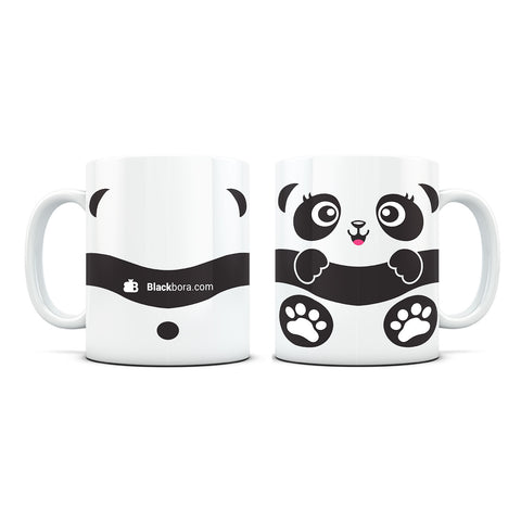 Baby Panda White Coffee Mug