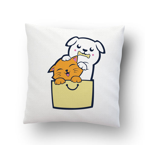 kitty Puppy Buddies Cushion cover