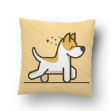 Dog Walking Cushion cover