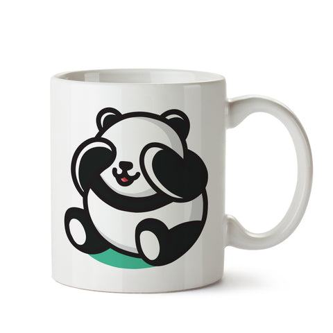 Cute Panda White Coffee Mug