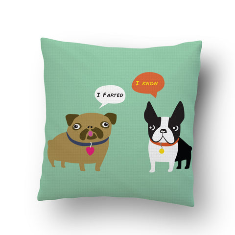 Dogs Fart Cushion Cover