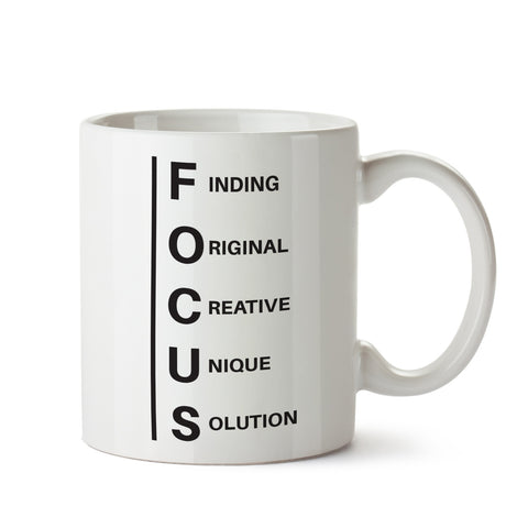Focus White Coffee Mug