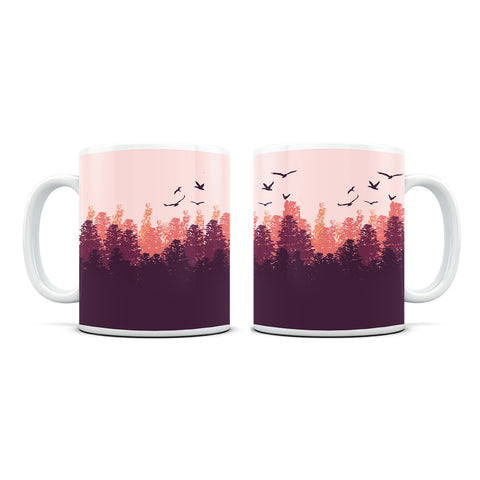 Forest White Coffee Mug