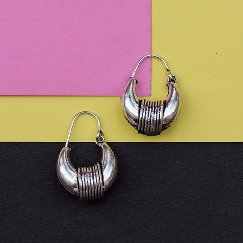 The Tribal Woman Silver Earring