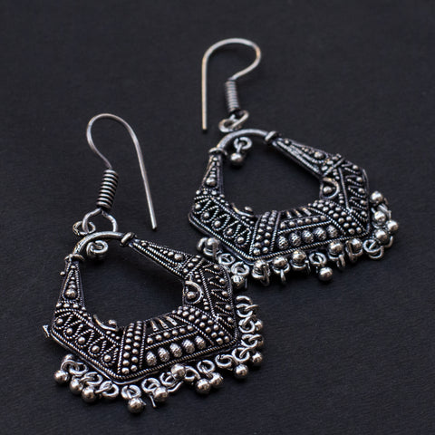 Light Metallic Silver Earring