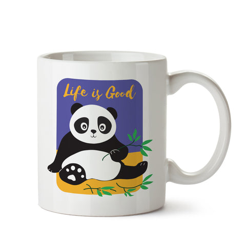 Life is Good Panda White Coffee Mug