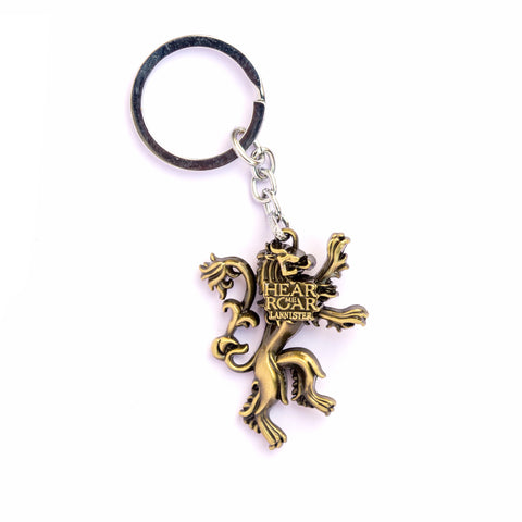 Hear Me Roar Lannister Golden Keychain