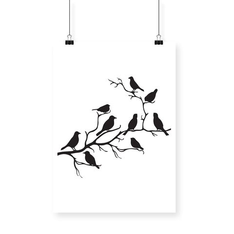 Birds on Branch Poster