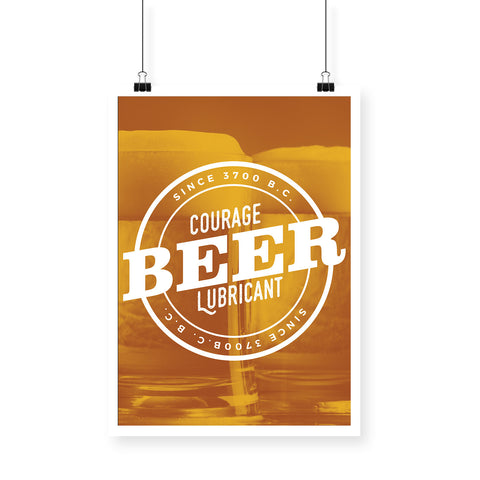 Courage Lubricant Beer Golden BlackBora Poster