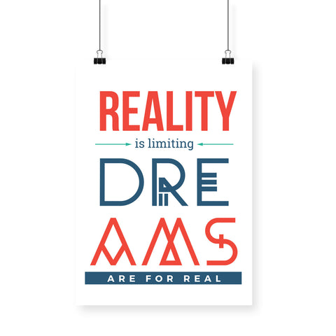 Reality is Limiting White BlackBora Poster
