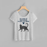 Bad Mood Cat Women Tee