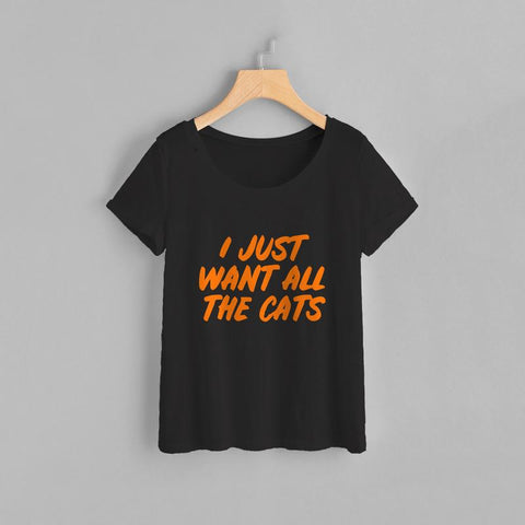 Want All Cats Women Tee