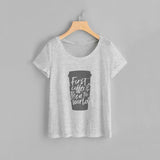 First Coffee Women Tee