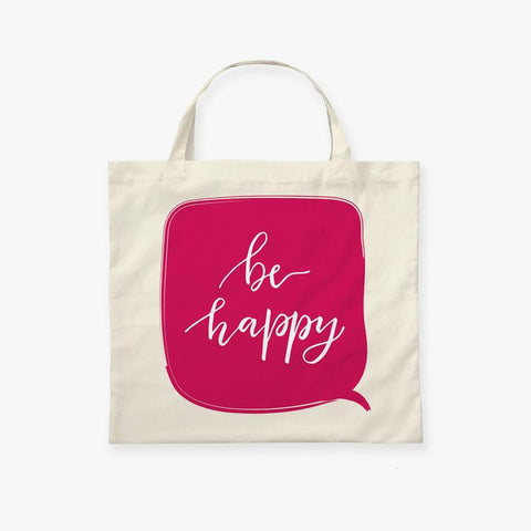 Be Happy Shopping Bag