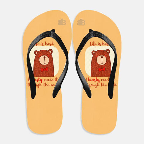 Bearly Made It Flip Flops