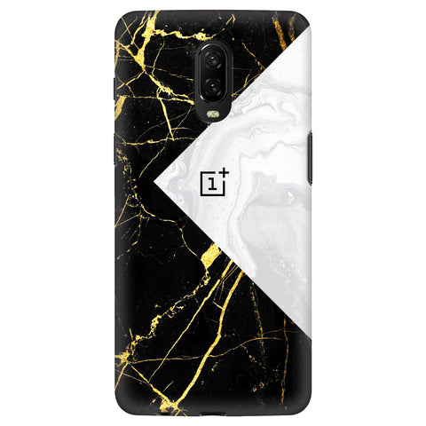 Black White Marble OnePlus 6T Cover