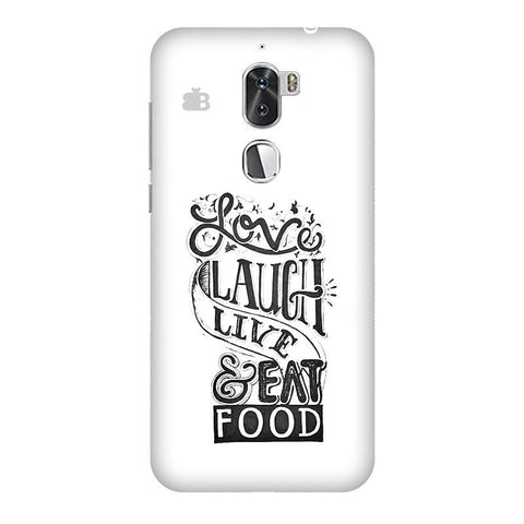Live Laugh & Eat Food Coolpad Cool 1 Phone Cover