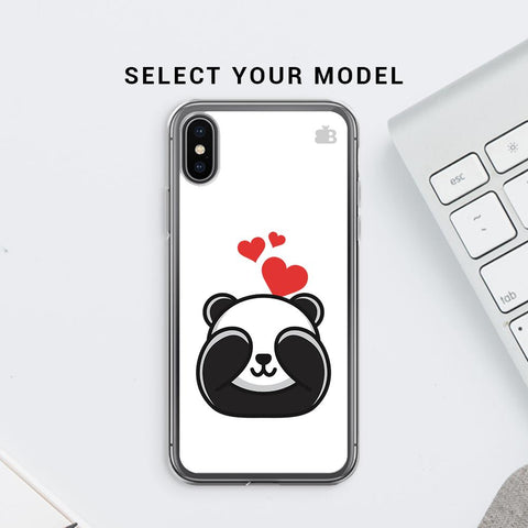 Panda In Love Soft Phone Cover