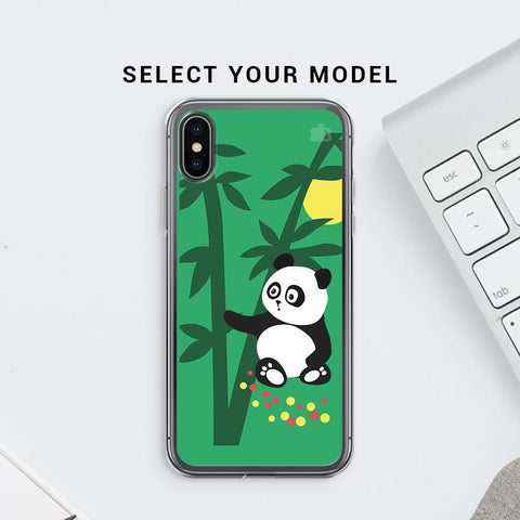 Panda in Woods Soft Phone Cover