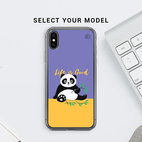 Panda Life is Good Soft Phone Cover