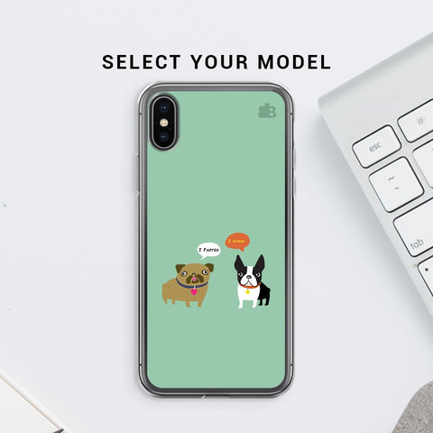 Cute Dog Buddies Soft Phone Cover