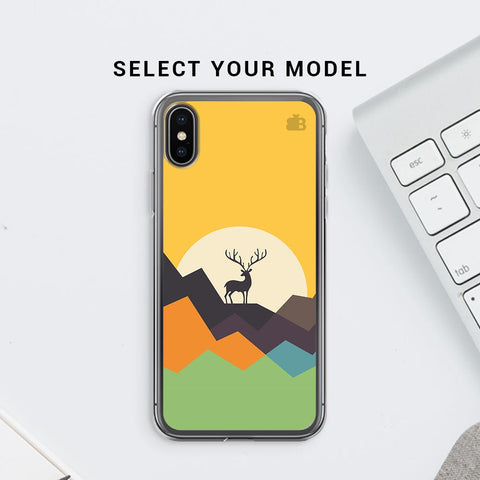Deer in Mountains Soft Phone Cover
