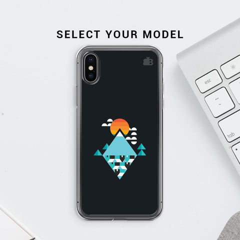 Abstract Mountains Soft Phone Cover