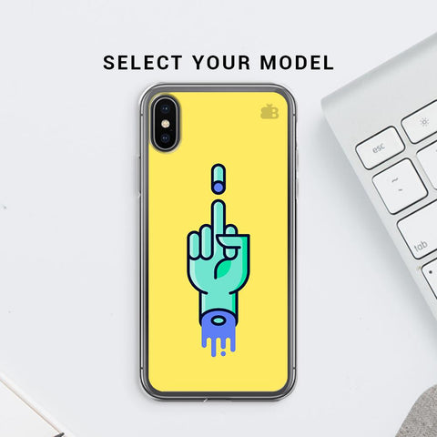 Middle Finger Soft Phone Cover