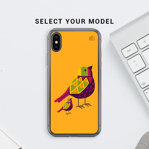Mom Kid Bird Soft Phone Cover