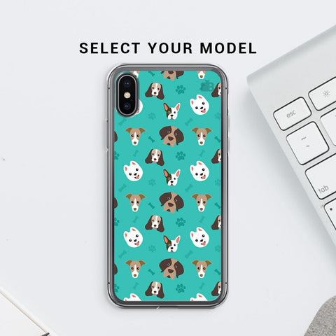 Doggie Pattern Soft Phone Cover