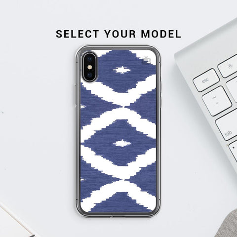Blue Ikat Soft Phone Cover